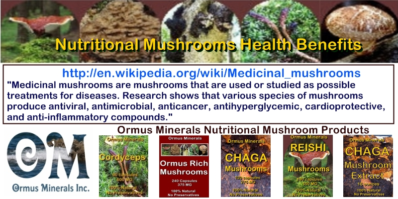 Ormus Minerals Nutritional Mushrooms