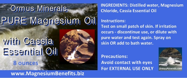 Ormus Minerals PURE Magnesium Oil with Cassia Oil