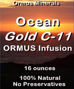 Ormus Minerals GOLD with Ocean Ormus C-11 Infusion
