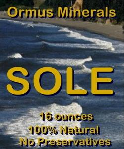 Ormus Minerals -Himalayan Crystal Salt Sole