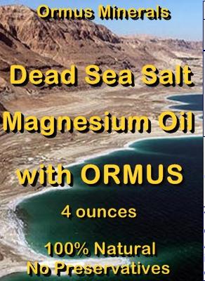 Ormus Minerals -Dead Sea Salt Magnesium Oil with ORMUS