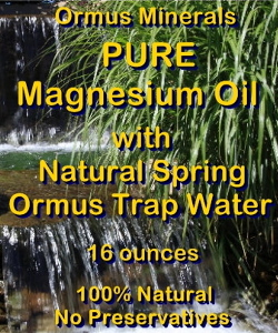 Ormus Minerals Pure Magnesium Oil with NATURAL SPRING TRAP WATER