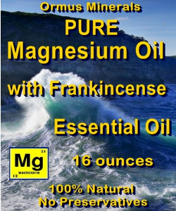 Ormus Minerals Pure Magnesium Oil with Frankincense E O