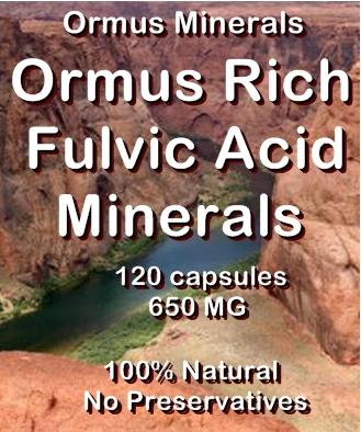 Ormus Minerals -Ormus Rich Fulvic Acid Minerals