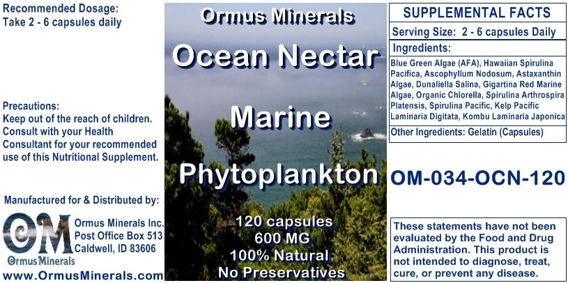 Ocean Nectar Marine Phytoplankton