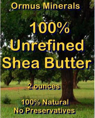 Ormus Minerals -100 Percent Unrefined Organic SHEA BUTTER