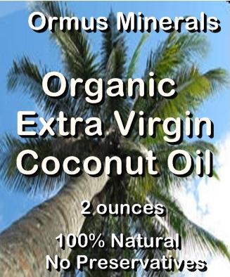 Ormus Minerals -Organic Extra Virgin Coconut Oil