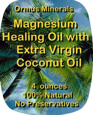 Ormus Minerals -Magnesium HEALING OIL with Organic Extra Virgin Coconut Oil