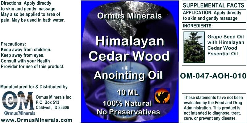 Ormus Minerals Himalayan Cedar Wood Anointing Oil 10Ml