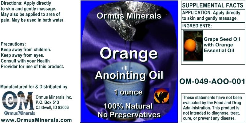 Ormus Minerals Orange Anointing Oil 1 oz