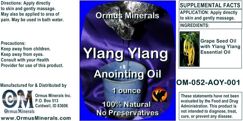 Ormus Minerals Ylang Ylang Anointing Oil 1 oz