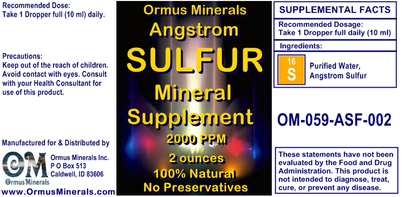 Angstrom Sulfur Mineral Supplement 2 ounces