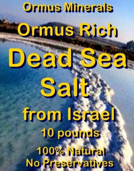 Ormus Minerals -DEAD SEA SALT
