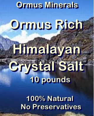 Ormus Minerals -Ormus Rich HIMALAYAN Crystal Salt