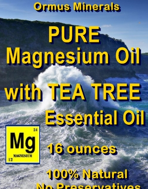 Ormus Minerals -PURE Magnesium Oil with TEA TREE E O