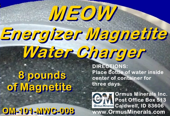 Ormus Minerals -8 lb Energizer Magnetite WATER Charger