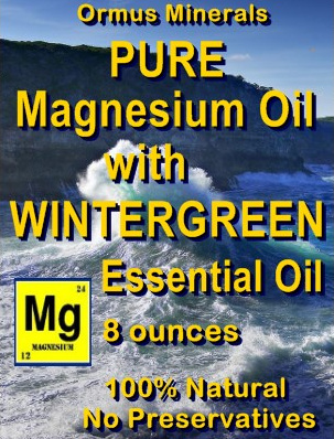 Ormus Minerals -PURE Magnesium Oil with WINTERGREEN E O