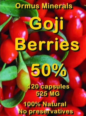 Ormus Minerals -GOJI Berries 50 Percent