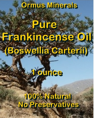 Ormus Minerals -Pure FRANKINCENSE Essential Oil