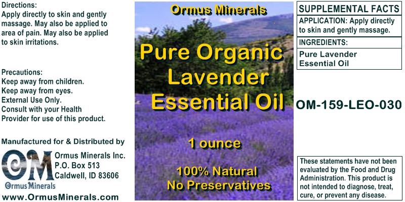 Pure Organic Lavender Essential Oil