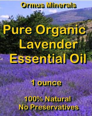 Ormus Minerals-Pure Organic LAVENDER Essential Oil