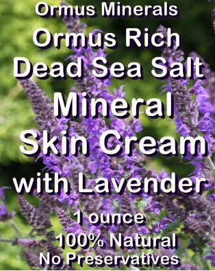 Ormus Minerals -Dead Sea Salt Mineral Skin Cream with Lavender
