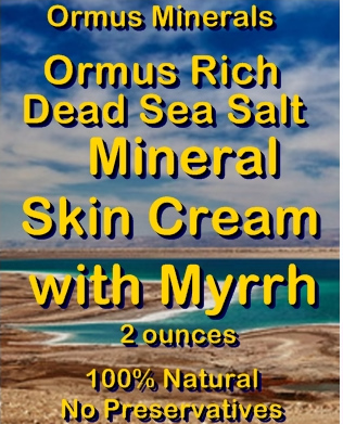 Ormus Minerals -Ormus Rich Dead Sea Salt Mineral Skin Cream with MYRRH EO