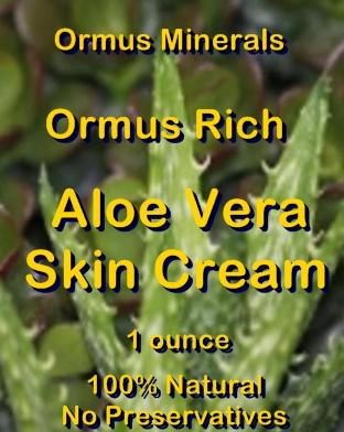 Ormus Minerals -Ormus Rich Aloe Vera Skin Cream