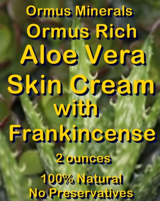 Ormus Minerals -Ormus Rich Aloe Vera Skin Cream with FRANKINCENSE EO