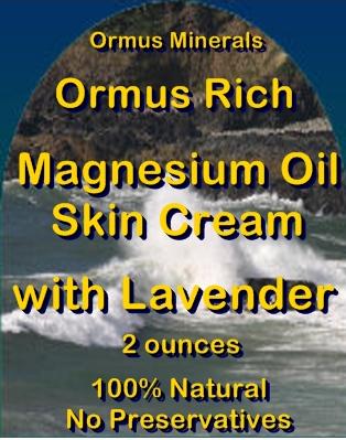 Ormus Minerals -Ormus Rich Magnesium Oil Skin Cream with LAVENDER