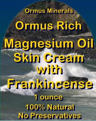 Ormus Minerals -Ormus Rich Magnesium Oil Skin Cream with FRANKINCENSE