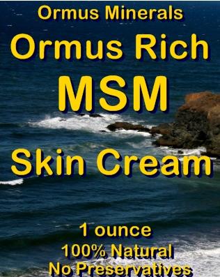 Ormus Minerals -Ormus Rich MSM Skin Cream