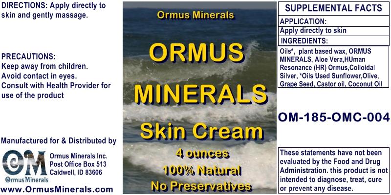 Ormus Minerals Ormus Rich Mineral Skin Cream