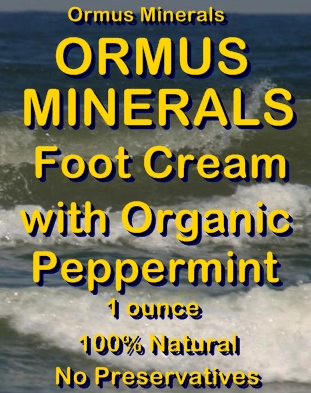 Ormus Minerals -Ormus Rich Mineral FOOT Cream with Organic PEPPERMINT