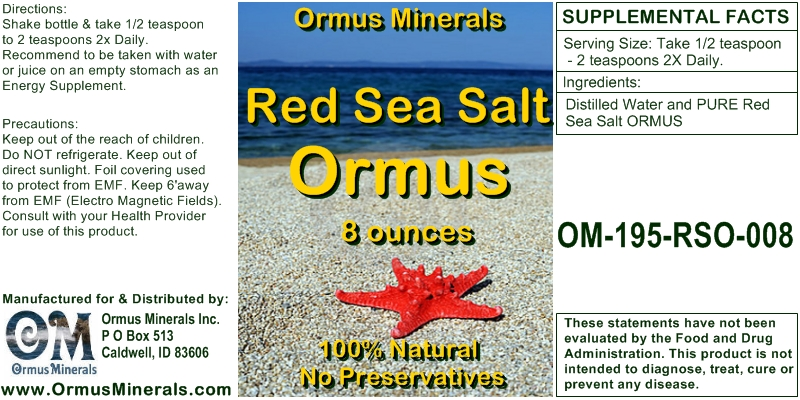 Red Sea Salt Ormus