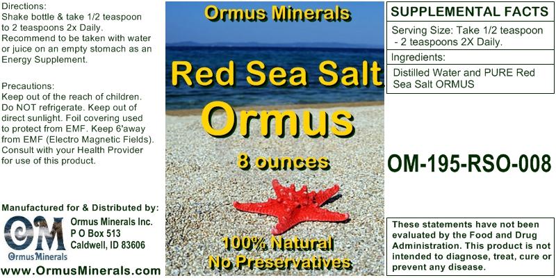 Red Sea Salt Ormus