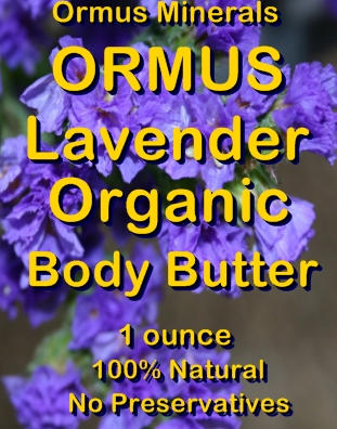 Ormus Minerals -Ormus Lavender Organic Body Butter