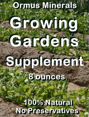 Ormus Minerals j-Growing GARDENS Supplement
