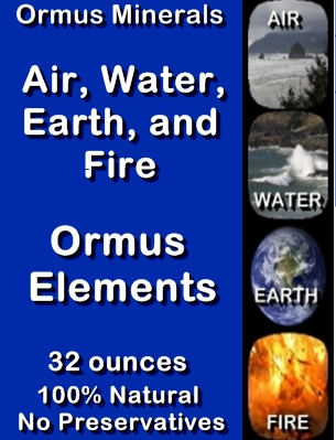 Ormus Minerals Ormus Elements Air - Water - Earth - Fire (L)