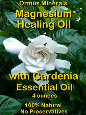 Ormus Minerals -Magnesium Healing Oil with GARDENIA Essential Oil