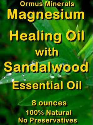 Ormus Minerals -Magnesium Healing Oil with SANDALWOOD Essential Oil