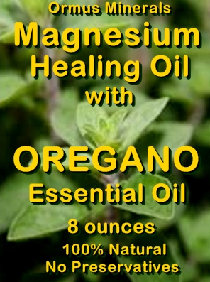 Ormus Minerals -Magnesium Healing Oil with OREGANO Essential Oil