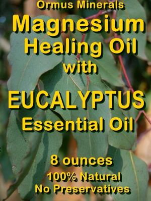 Ormus Minerals -Magnesium Healing Oil with Eucalyptus Essential Oil