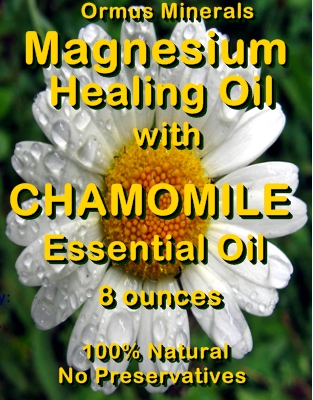 Ormus Minerals -Magneisum Healing Oil with CHAMOMILE Essential Oil