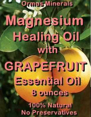 Ormus Minerals -Magnesium Healing Oil with GRAPEFRUIT