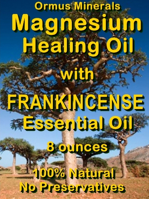Ormus Minerals -Magnesium Healing Oil with FRANKINCENSE Essential Oil