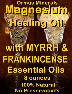 Ormus Minerals -Magnesium Healing Oil with Myrrh and Frankincense Essential Oils