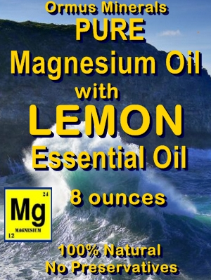 Ormus Minerals Pure Magnesium Oil with LEMON E O