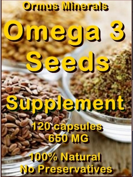 Ormus Minerals Omega 3 Seeds Powder