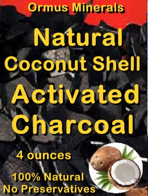 Ormus Minerals -Natural Coconut Shell Activated Charcoal